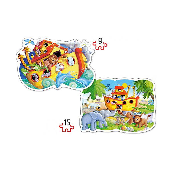 Пазл 2 в 1 Castorland Ноев ковчег, 9/15 деталейПазлы для малышей<br>Характеристики товара:<br><br>• возраст: от 3 лет;<br>• количество деталей: 24 шт; <br>• комплект: 2 картинки;<br>• из чего сделана игрушка (состав): картон;<br>• размер упаковки: 32х22х4,7 см;<br>• упаковка: картонная коробка;<br>• размер собранного пазла: 28х20 см.;<br>• вес: 300 гр.;<br>• страна производителя: Польша.<br><br>Интересный и увлекательный контурный пазл Ноев ковчег состоит из 24 элементов, при этом ребенок сможет собрать сразу две картинки. Оба пазла будут весьма яркими и красочными.<br><br>Собрать их ребенку не составит никакого труда, ведь все элементы соединяются между собой легко и быстро. Сделан пазл из плотного картона, что позволит собирать его не однократно.<br> <br>Пазл 2 в 1 «Ноев ковчег» от бренда Castroland можно купить в нашем интернет-магазине.<br>Ширина мм: 320; Глубина мм: 220; Высота мм: 47; Вес г: 300; Возраст от месяцев: 36; Возраст до месяцев: 2147483647; Пол: Унисекс; Возраст: Детский; SKU: 7323857;