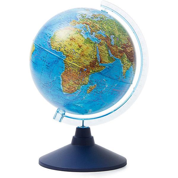 Глобус Земли физический 210ммГлобусы<br>Характеристики:<br><br>• возраст: от 6 лет;<br>• диаметр: 21 см;<br>• материал: пластик;<br>• упаковка: пакет, подарочная коробка;<br>• вес упаковки: 500 гр.;<br>• размер упаковки: 22х22х25 см;<br>• страна производитель: Россия.<br><br>Физический глобус Земли от компании Globen демонстрирует современную поверхность планеты с системами гор, водоемами, разнообразным рельефом. Занятия с глобусом способствуют изучению географии, тренируют память, расширяют кругозор. Копия земного шара расположена на устойчивой подставке — отличное украшение рабочего стола.<br><br>Глобус Земли физический 210 мм можно купить в нашем интернет-магазине.<br><br>Ширина мм: 220<br>Глубина мм: 220<br>Высота мм: 250<br>Вес г: 500<br>Возраст от месяцев: 72<br>Возраст до месяцев: 2147483647<br>Пол: Унисекс<br>Возраст: Детский<br>SKU: 7327220