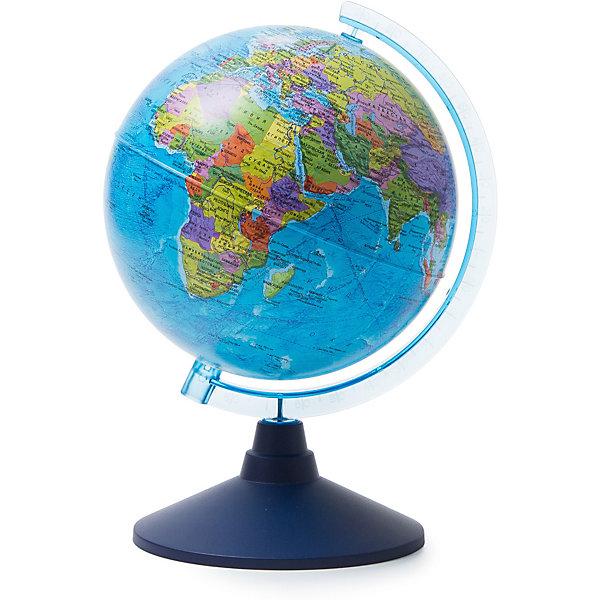 Глобус Земли политический 210ммГлобусы<br>Характеристики:<br><br>• возраст: от 6 лет;<br>• диаметр: 21 см;<br>• материал: пластик;<br>• упаковка: пакет, подарочная коробка;<br>• вес упаковки: 500 гр.;<br>• размер упаковки: 22х22х25 см;<br>• страна производитель: Россия.<br><br>Политический глобус Земли от компании Globen демонстрирует современную карту государств, их расположение, границы, названия и другие географические особенности планеты. Занятия с глобусом способствуют изучению географии, тренируют память, расширяют кругозор. Копия земного шара расположена на устойчивой подставке — отличное украшение рабочего стола.<br><br>Глобус Земли политический 210 мм можно купить в нашем интернет-магазине.<br>Ширина мм: 220; Глубина мм: 220; Высота мм: 250; Вес г: 500; Возраст от месяцев: 72; Возраст до месяцев: 2147483647; Пол: Унисекс; Возраст: Детский; SKU: 7327221;