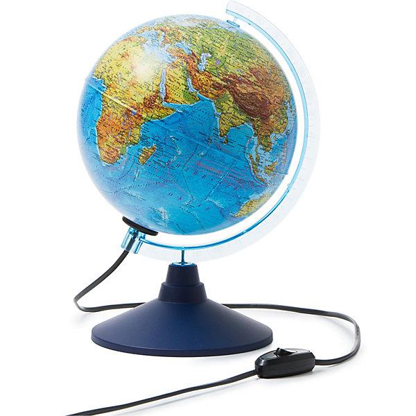Глобус Земли физико-политический с подсветкой 210ммГлобусы<br>Характеристики:<br><br>• возраст: от 6 лет;<br>• диаметр: 21 см;<br>• материал: пластик;<br>• есть подсветка с переключателем на шнуре;<br>• упаковка: пакет, подарочная коробка;<br>• вес упаковки: 700 гр.;<br>• размер упаковки: 22х22х25 см;<br>• страна производитель: Россия.<br><br>Глобус Земли от компании Globen расположен на удобной подставке и красиво подсвечивается изнутри. Может служить дополнительным светильником. Физико-политический глобус наглядно отображает внешний вид поверхности планеты и все государственные границы на сегодняшний день, включая Крым в составе России. <br><br>Глобус Земли физико-политический с подсветкой 210 мм можно купить в нашем интернет-магазине.<br>Ширина мм: 220; Глубина мм: 220; Высота мм: 250; Вес г: 700; Возраст от месяцев: 72; Возраст до месяцев: 2147483647; Пол: Унисекс; Возраст: Детский; SKU: 7327224;