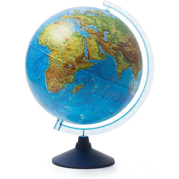 Глобус Земли физический 320ммГлобусы<br>Характеристики:<br><br>• возраст: от 6 лет;<br>• диаметр: 32 см;<br>• материал: пластик;<br>• упаковка: пакет, подарочная коробка;<br>• вес упаковки: 900 гр.;<br>• размер упаковки: 32,1х32,1х34,5 см;<br>• страна производитель: Россия.<br><br>Физический глобус Земли от компании Globen демонстрирует современную поверхность планеты с системами гор, водоемами, разнообразным рельефом. Занятия с глобусом способствуют изучению географии, тренируют память, расширяют кругозор. Копия земного шара расположена на устойчивой подставке — отличное украшение рабочего стола.<br><br>Глобус Земли физический 320 мм можно купить в нашем интернет-магазине.<br><br>Ширина мм: 321<br>Глубина мм: 321<br>Высота мм: 345<br>Вес г: 900<br>Возраст от месяцев: 72<br>Возраст до месяцев: 2147483647<br>Пол: Унисекс<br>Возраст: Детский<br>SKU: 7327226