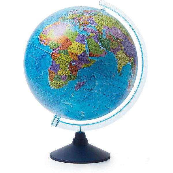 Глобус Земли политический 320ммГлобусы<br>Характеристики:<br><br>• возраст: от 6 лет;<br>• диаметр: 32 см;<br>• материал: пластик;<br>• упаковка: пакет, подарочная коробка;<br>• вес упаковки: 900 гр.;<br>• размер упаковки: 32,1х32,1х34,5 см;<br>• страна производитель: Россия.<br><br>Политический глобус Земли от компании Globen демонстрирует современную карту государств, их расположение, границы, названия и другие географические особенности планеты. Занятия с глобусом способствуют изучению географии, тренируют память, расширяют кругозор. Копия земного шара расположена на устойчивой подставке — отличное украшение рабочего стола.<br><br>Глобус Земли политический 320 мм можно купить в нашем интернет-магазине.<br><br>Ширина мм: 321<br>Глубина мм: 321<br>Высота мм: 345<br>Вес г: 900<br>Возраст от месяцев: 72<br>Возраст до месяцев: 2147483647<br>Пол: Унисекс<br>Возраст: Детский<br>SKU: 7327227