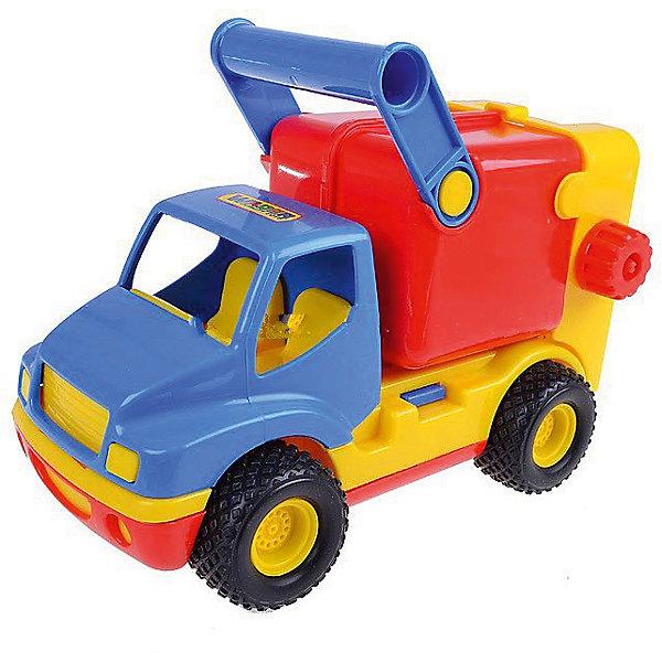 Машина Полесье КонсТрак коммунальные службы, красно-желтыйМашинки<br>Характеристики:<br><br>• Вес в упаковке: 498,7г.;<br>• Материал: пластик;<br>• Упаковка: сетка;<br>• размер упаковки:28,5х14,5х19,5см.;<br>• для детей в возрасте: от 3 лет.;<br>• страна производитель Беларусь.<br><br>Автомобиль коммунальный серии «КонсТрак» бренда «Полесье» прекрасный подарок для маленьких мальчишек. Это настоящий мусоровоз с поднимающимся баком и движущейся ручкой. Широкие колёса пройдут по любой местности. Он создан из высококачественных, экологически чистых материалов, что очень важно для детских товаров.<br><br>Играть в эту красивую игрушку можно не только дома, но и на улице. С ним ребёнок может придумывать множество различных строительных работ и надолго задержится в песочнице в кампании с друзьями. Все детали надёжно соединяются друг с другом, поэтому безопасен для малыша.  Он имеет оптимальные размеры. <br><br>Играя дети смогут развивать фантазию, сообразительность, навыки общения с друзьями, мелкую моторику и больше проводить времени на свежем воздухе.<br><br>Автомобиль коммунальный серии «КонсТрак» бренда «Полесье», можно купить в нашем интернет-магазине.<br>Ширина мм: 285; Глубина мм: 145; Высота мм: 195; Вес г: 498; Возраст от месяцев: 36; Возраст до месяцев: 2147483647; Пол: Мужской; Возраст: Детский; SKU: 7327246;