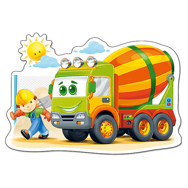 Пазл Castorland Maxi Бетономешалка, 12 деталейПазлы для малышей<br>Характеристики товара:<br><br>• возраст: от 3 лет;<br>• пол: для девочек и мальчиков;<br>• вид: контурный пазл-мозайка;<br>• количество элементов: 12 шт.;<br>• материал пазла: картон;<br>• размер картинки: 47х33 см.;<br>• размер упаковки: 32х22х4,7 см.;<br>• вес: 400 гр.;<br>• упаковка: картонная коробка;<br>• страна изготовитель: Польша.<br><br>Макси - пазл состоит из 12 крупных элементов. Все элементы пазла изготовлены из плотного картона и хорошо стыкуются друг с другом в красочную картину.<br><br>Собрав все пазлы воедино, получится разноцветное изображение большой  машины в компании со строителем. <br><br>Занимательный пазл разнообразит игры с ребенком, а также поможет в развитии у него мелкой моторики рук и логического мышления.<br><br>Пазл можно купить в нашем интернет-магазине.<br>Ширина мм: 320; Глубина мм: 220; Высота мм: 47; Вес г: 400; Возраст от месяцев: 36; Возраст до месяцев: 2147483647; Пол: Мужской; Возраст: Детский; SKU: 7327781;
