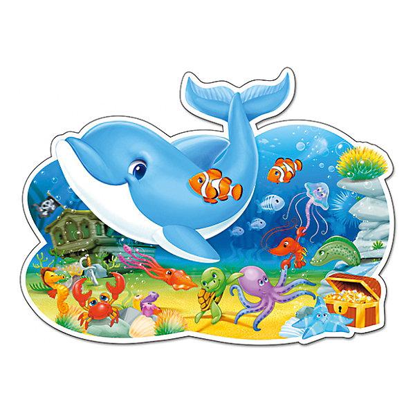 Пазл Castorland Maxi Подводные друзья, 12 деталейПазлы для малышей<br>Характеристики товара:<br><br>• возраст: от 3 лет;<br>• пол: для девочек и мальчиков;<br>• вид: контурный пазл-мозайка;<br>• количество элементов: 12 шт.;<br>• материал пазла: картон;<br>• размер картинки: 44х33 см.;<br>• размер упаковки: 32х22х4,7 см.;<br>• вес: 400 гр.;<br>• упаковка: картонная коробка;<br>• страна изготовитель: Польша.<br><br>Макси - пазл состоит из 12 элементов. Элементы данного пазла большие, прочные, качественные и легко собираются в красивую картинку, изображающую подводный мир и забавных морских животных. <br><br>Небольшое количество элементов и четкий разграниченный рисунок позволят ребенку занятно провести время, развивая усидчивость, цветовосприятие, логику и пространственное мышление.<br><br>Пазл можно купить в нашем интернет-магазине.<br>Ширина мм: 320; Глубина мм: 220; Высота мм: 47; Вес г: 400; Возраст от месяцев: 36; Возраст до месяцев: 2147483647; Пол: Унисекс; Возраст: Детский; SKU: 7327782;