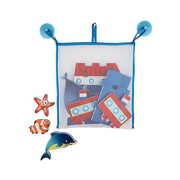 Стикеры для ванны Barney&amp;Buddy Построй пароходик, 10 деталейИгрушки для ванной<br>Характеристики:<br><br>• возраст: от 3 лет<br>• в наборе: 10 стикеров, сеточка на присосках<br>• материал: вспененный пластик<br>• упаковка: коробка<br>• размер упаковки: 17х20х9 см.<br>• вес: 230 гр.<br>• срок службы: 5 лет<br>• производитель: Barney and Buddy, Великобритания<br>• страна изготовитель: Китай<br><br>Игровой набор стикеры для ванны «Построй пароходик» от Barney and Buddy (Барни энд Бадди) превратит купание в веселую игру.<br><br>В набор входят 10 деталей-стикеров, с помощью которых  малыш сможет создавать в ванне картины с красивым объемным пароходом и морскими обитателями (дельфином, китом, рыбкой и морской звездой). А когда игра окончится, нужно высушить стикеры и убрать их в удобную сетчатую сумочку до следующего купания.<br><br>Все стикеры отлично держатся на воде, а при намокании легко приклеиваются к кафелю, поверхности ванны или друг к другу.<br><br>Набор развивает коммуникативные навыки, мышление и воображение. Отлично подойдет для подарка.<br><br>Стикеры для ванны Построй пароходик можно купить в нашем интернет-магазине.<br><br>Ширина мм: 60<br>Глубина мм: 230<br>Высота мм: 250<br>Вес г: 230<br>Возраст от месяцев: 36<br>Возраст до месяцев: 2147483647<br>Пол: Мужской<br>Возраст: Детский<br>SKU: 7327833