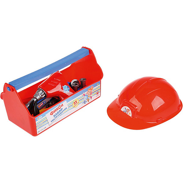 Набор инструментов Играем вместе Фиксики СамоделкинНаборы инструментов<br>Характеристики товара:<br><br>• количество предметов: 22;<br>• возраст: от 3 лет;<br>• размер чемоданчика: 27х12х15 см;<br>• материал: пластик;<br>• размер упаковки: 33х15х17 см;<br>• страна производства: Россия.<br><br>Замечательный набор строительных инструментов поможет ребенку почувствовать себя самым настоящим мастером на все руки. Набор состоит из 22 предметов, необходимых каждому мастеру: отвертка, молоток, гаечный ключ и многое другое. Чтобы ребенок не забывал о безопасности, в наборе предусмотрена защитная каска. Набор упакован в удобный чемоданчик с изображением Фиксиков, героев известного мультсериала. Все элементы изготовлены из пластика, не имеют острых углов.<br><br>Набор строительных инструментов «Фиксики» с каской в пластиковом ящике, Играем вместе можно купить в нашем интернет-магазине.<br>Ширина мм: 27; Глубина мм: 15; Высота мм: 15; Вес г: 650; Возраст от месяцев: 36; Возраст до месяцев: 84; Пол: Унисекс; Возраст: Детский; SKU: 7328013;