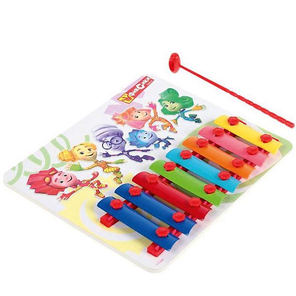 Ксилофон Играем вместе ФиксикиКсилофоны<br>Характеристики товара:<br><br>• в комплекте: ксилофон, молоточек;<br>• возраст: от 3 лет;<br>• длина ксилофона: 20 см;<br>• длина молоточка: 14,5 см;<br>• материал: металл, пластик;<br>• размер упаковки: 24,5х19,5х2 см;<br>• страна бренда: Россия.<br><br>С помощью ксилофона Фиксики ребенок сможет сыграть знакомые мелодии или произведения собственного сочинения. Для создания мелодии необходимо ударить молоточком по клавишам. Играя с ксилофоном, ребенок научится различать звуки разной тональности. К тому же, такая игра хорошо развивает чувство ритма и музыкального слуха. Клавиши ксилофона выполнены в разных цветах, что поможет развить цветовосприятие ребенка. Игрушка изготовлена из качественных, безопасных и прочных материалов. <br><br>Ксилофон «Фиксики» в пакете, Играем вместе можно купить в нашем интернет-магазине.<br><br>Ширина мм: 20<br>Глубина мм: 1<br>Высота мм: 7<br>Вес г: 160<br>Возраст от месяцев: 36<br>Возраст до месяцев: 84<br>Пол: Унисекс<br>Возраст: Детский<br>SKU: 7328018