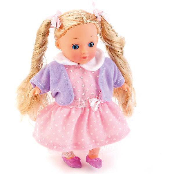 Интерактивная кукла Карапуз 18 см, поет, рассказывает стихиКуклы<br>Характеристики товара:<br><br>• высота куклы: 18 см;<br>• возраст: от 3 лет;<br>• батарейки: АА - 2 шт. (входят в комплект);<br>• материал: пластик, текстиль;<br>• размер упаковки: 23х8х14 см;<br>• страна бренда: Россия.<br><br>Кукла высотой 18 сантиметров развлечет девочку и позволит ей проявить заботу. Куклу можно брать с собой в гости, на прогулку, укладывать спать. Если нажать кукле на животик, то она расскажет стихотворения Агнии Барто и споет песенку. Куклу можно расчесывать и создавать ей прически. Куколка одета в розовое платье и фиолетовую кофточку. Ноги и руки подвижны.<br><br>Куклу 18см, озвученную , стихи и песенка А. Барто, Карапуз можно купить в нашем интернет-магазине.<br>Ширина мм: 6; Глубина мм: 5; Высота мм: 18; Вес г: 300; Возраст от месяцев: 36; Возраст до месяцев: 84; Пол: Унисекс; Возраст: Детский; SKU: 7328027;
