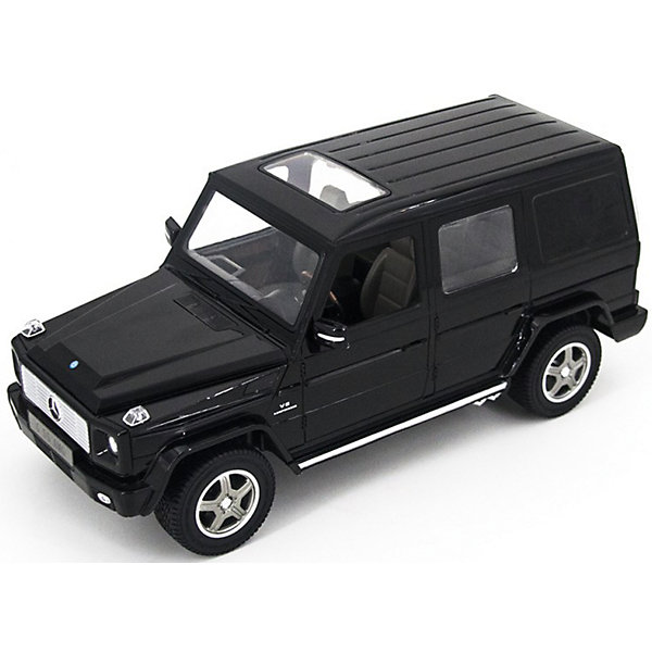 Радиоуправляемая машина Rastar Mersedes G55 AMG 1:14, чернаяРадиоуправляемые машины<br>Характеристики:<br><br>• вес в упаковке: 1,380кг.;<br>• материал:металл, пластик;<br>• тип батарейки: 5хАА (в комплект не входят)<br>• размер упаковки: 45,5х19,5х21,5см.;<br>• размер машины: 32х14х15см.;<br>• упаковка: картонная коробка;<br>• для детей в возрасте: от 8 лет.;<br>• страна производитель:Китай.<br><br>Радиоуправляемый Мерседес Бенс G55 AMG чёрного цвета бренда «RASTAR» (Рестар) будет прекрасным подарком для маленьких мальчишек. Это точная копия настоящей машины сделанная в масштабе 1 к 14. Она создана из высококачественных, экологически чистых материалов, что очень важно для детских товаров.<br><br>  Модель приводится в движение с помощью пульта управления, на котором находятся всего две кнопки, поэтому управлять машиной легко и просто. При движении вперёд или назад светятся фары. Игрушка рассчитана на двадцать пять минут непрерывной работы.<br><br>Ребёнок быстро научится управлять автомобилем применяя пульт управления, будет ловко объезжать различные препятствия. В компании с друзьями или родителями устраивать настоящие гонки. Играя дети развивают фантазию, быстроту реакции, координацию движений, глазомер.<br><br>Радиоуправляемый Мерседес Бенс G55 AMG чёрного цвета, можно купить в нашем интернет-магазине.<br>Ширина мм: 455; Глубина мм: 215; Высота мм: 195; Вес г: 1380; Возраст от месяцев: 36; Возраст до месяцев: 2147483647; Пол: Мужской; Возраст: Детский; SKU: 7330706;