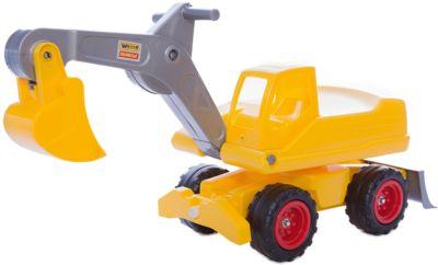 Машинка Полесье Мега-экскаватор колесный , желтый