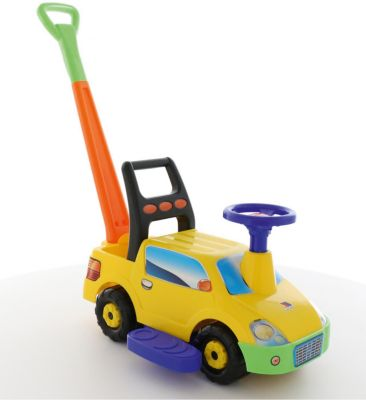 Машина-Каталка С Ручкой Полесье Пикап , Желтая
