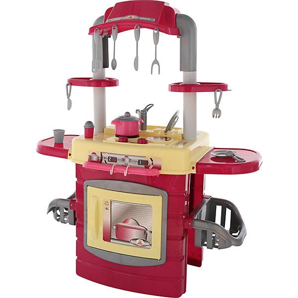 Игровой набор Полесье Кухня большая № 1, в пакетеДетские кухни<br>Характеристики товара:<br><br>• возраст: до 3 лет;<br>• в комплекте: кастрюля, сковорода, стакан, солонка, блюдца (2 шт.), ложка, вилка,нож,кухонные щипцы и приборы (4 шт.).;<br>• материал: пластик.<br>• размер упаковки: 91х52х107 см;<br>• упаковка: пакет;<br>• страна бренда: Беларусь.<br><br>Набор представлен в виде компактной кухни, оснащённой всем необходимым для ведения игрушечного хозяйства.<br><br>С одной стороны комплекса расположена газовая плита и духовой шкаф, а с другой предусмотрено место для хранения игрушечной посуды и кухонных принадлежностей. Также «Кухня 1» оборудована вытяжкой и фритюрницей для приготовления картофеля фри (имитация данного продукта входит в набор). Игровой комплекс разделён на зону для приготовления пищи и зону для мытья посуды<br><br>Детскую кухню, можно приобрести в нашем интернет-магазине.<br><br>Ширина мм: 510<br>Глубина мм: 430<br>Высота мм: 570<br>Вес г: 4636<br>Возраст от месяцев: 36<br>Возраст до месяцев: 2147483647<br>Пол: Женский<br>Возраст: Детский<br>SKU: 7330787