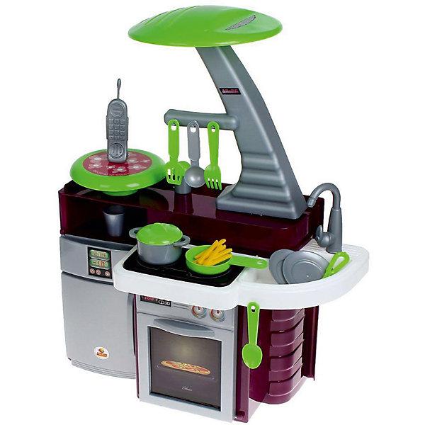Игровой набор Полесье Кухня Laura с варочной панелью, в коробкеДетские кухни<br>Характеристики товара:<br><br>• возраст: от 3 лет;<br>• в комплекте: - кастрюля – 1 шт.,<br>- сковорода – 1 шт.,<br>- стакан – 1 шт.,<br>- блюдца – 2 шт.,<br>- нож – 1 шт.,<br>- ложка – 1 шт.,<br>- вилка – 1 шт..<br>- игрушечный детский радиотелефон – 1 шт.,<br>- картошка фри – 1 шт..;<br>• материал: пластик.<br>• размер упаковки: 91х52х107 см;<br>• упаковка:картонная коробка;<br>• страна бренда: Беларусь.<br><br>Набор представлен в виде компактной кухни, оснащённой всем необходимым для ведения игрушечного хозяйства.<br><br>Кухня оснащена электронной озвученной варочной панелью с подсветкой. На панели 4 кнопки: две для включения правой и левой конфорок, одной кнопкой включается звук вытяжки, и еще одной - 3 развлекательных мелодии.<br><br>Включение конфорки, приводит в действие подсветку, после чего появляется звук жарки. Через 2 секунды после выключения конфорки выключается звук, затем гаснет подсветка.<br><br>Детскую кухню, можно приобрести в нашем интернет-магазине.<br>Ширина мм: 415; Глубина мм: 280; Высота мм: 540; Вес г: 3109; Возраст от месяцев: 36; Возраст до месяцев: 2147483647; Пол: Женский; Возраст: Детский; SKU: 7330788;