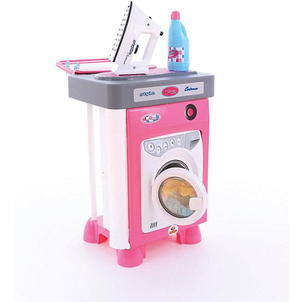 Набор для уборки Полесье Carmenсо стиральной машиной, в коробкеНаборы для уборки<br>Характеристики товара:<br><br>• возраст: от 3 лет;<br>• в комплекте:- игровая панель с тканевой поверхностью для глажки;<br>- утюжок;<br>- сушилка для белья;<br>- веревка для сушилки;<br>- игрушечная емкость;<br>- прищепки – 4 шт.;<br>- батарейки R-14- 3 шт.<br>• цвет: розовый, серебристый.<br>• материал: пластик.<br>• размер упаковки: 31х45х60 см;<br>• упаковка:картонная коробка;<br>• страна бренда: Беларусь.<br><br>Набор «Carmen» №2 со стиральной машиной состоит из одного модуля, который включает в себя:<br>- стиральная машина (открытие и закрытие дверки стиральной машины сопровождается звуковым сигналом. После выбора режима стирки начинает вращаться барабан и звучит звуковой сигнал, имитирующий работу стиральной машины);<br><br>Игрушки отличаются красочным исполнением, ярким выразительным дизайном, выглядят весьма реалистично и изготовлены из качественного надежного пластика. С данными предметами и аксессуарами девочки смогут примерить на себя роль настоящих хранительниц домашнего очага и придумать массу увлекательных сюжетно-ролевых игр.<br><br>Детский набор «Carmen», можно приобрести в нашем интернет-магазине.<br>Ширина мм: 320; Глубина мм: 270; Высота мм: 460; Вес г: 3107; Возраст от месяцев: 36; Возраст до месяцев: 2147483647; Пол: Женский; Возраст: Детский; SKU: 7330793;