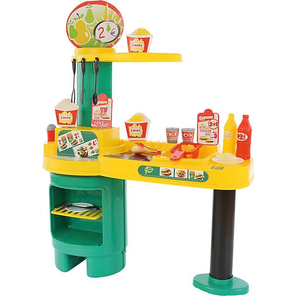 Игровой набор Полесье Gran Burger №1, в пакетеДетские кухни<br>Характеристики товара:<br><br>• возраст: от 3 лет;<br>• в комплекте:- стаканы (2 шт.),<br>- блюдца (2 шт.),<br>- солонка,<br>- игрушечный картофель фри (3 шт.),<br>- игрушечные булочки для бургеров (4 шт.),<br>- игрушечные бутылки (2 шт.),<br>- кухонные щипцы и приборы (4 шт.),<br>- картонные коробочки для упаковки картофеля фри (3 шт.).<br>• цвет: фиолетовый, серебристый, зеленый<br>• материал: пластик.<br>• размер упаковки: 75х30.5х78см;<br>• упаковка: пакет;<br>• страна бренда: Беларусь.<br><br>Набор «GRAN BURGUER» №1 оснащён большой столешницей с фритюрницей и газовой плитой. Всё это позволяет ребёнку почувствовать себя настоящим поваром в кафе. <br><br>Конструкция игрового комплекса предусматривает наличие ниши с полочкой для хранения игрушечных продуктов и посуды.<br><br>Детскую кухню, можно приобрести в нашем интернет-магазине.<br>Ширина мм: 340; Глубина мм: 330; Высота мм: 740; Вес г: 2489; Возраст от месяцев: 36; Возраст до месяцев: 2147483647; Пол: Женский; Возраст: Детский; SKU: 7330794;