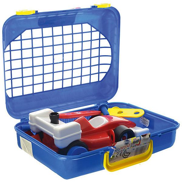 Набор инструментов Palau Toys в чемодане, 27 предметовНаборы инструментов<br>Характеристики товара:<br><br>• возраст: от 3 лет;<br>• материал: пластик;<br>• в комплекте: чемодан, 27 предметов;<br>• размер упаковки: 35х35х11 см;<br>• вес упаковки: 1 кг;<br>• страна производитель: Китай.<br><br>Набор инструментов в чемодане Palau Toys 27 предметов познакомит мальчика с основными инструментами и научит базовым навыкам работы с ними. Все инструменты находятся в удобном чемоданчике с ручкой, что позволяет хранить их дома или брать с собой на прогулку. Игрушки выполнены из качественного безопасного пластика.<br><br>Набор инструментов в чемодане Palau Toys 27 предметов можно приобрести в нашем интернет-магазине.<br><br>Ширина мм: 350<br>Глубина мм: 350<br>Высота мм: 110<br>Вес г: 1000<br>Возраст от месяцев: 36<br>Возраст до месяцев: 96<br>Пол: Унисекс<br>Возраст: Детский<br>SKU: 7331961
