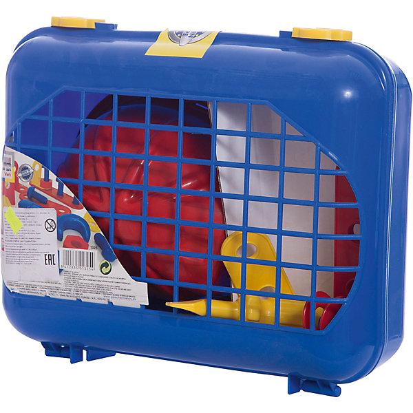 Набор инструментов Palau Toys в чемодане, 18 предметовНаборы инструментов<br>Характеристики товара:<br><br>• возраст: от 3 лет;<br>• материал: пластик;<br>• в комплекте: чемодан, 18 предметов;<br>• размер упаковки: 35х35х11 см;<br>• вес упаковки: 1 кг;<br>• страна производитель: Китай.<br><br>Набор инструментов в чемодане Palau Toys 18 предметов познакомит мальчика с основными инструментами и научит базовым навыкам работы с ними. Все инструменты находятся в удобном чемоданчике с ручкой, что позволяет хранить их дома или брать с собой на прогулку. Игрушки выполнены из качественного безопасного пластика.<br><br>Набор инструментов в чемодане Palau Toys 18 предметов можно приобрести в нашем интернет-магазине.<br>Ширина мм: 350; Глубина мм: 350; Высота мм: 110; Вес г: 833; Возраст от месяцев: 36; Возраст до месяцев: 96; Пол: Унисекс; Возраст: Детский; SKU: 7331962;