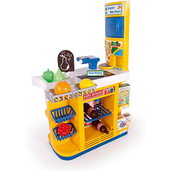 Игровой набор Palau Toys Супермаркет + 12 аксессуаров, 82 смДетский супермаркет<br>Характеристики товара:<br><br>• возраст: от 3 лет;<br>• материал: пластик;<br>• в комплекте: супермаркет, 12 аксессуаров;<br>• размер игрушки: 82х55х32,5 см;<br>• размер упаковки: 82х53х20 см;<br>• вес упаковки: 4 кг;<br>• страна производитель: Китай.<br><br>Супермаркет Palau Toys познакомит ребенка с устройством магазина и позволит придумать разнообразные игры. Супермаркет оснащен кассовой стойкой с калькулятором и многочисленными полочками для продуктов. Игрушка выполнена из качественного безопасного пластика.<br><br>Супермаркет Palau Toys можно приобрести в нашем интернет-магазине.<br><br>Ширина мм: 830<br>Глубина мм: 200<br>Высота мм: 530<br>Вес г: 4000<br>Возраст от месяцев: 36<br>Возраст до месяцев: 96<br>Пол: Унисекс<br>Возраст: Детский<br>SKU: 7331963