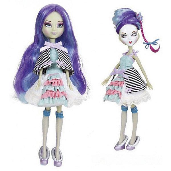 Кукла Playhut Mystixx Rococo Зомби Азра, 29 смКуклы<br>Характеристики товара:<br><br>• возраст: от 6 лет;<br>• материал: пластик, текстиль;<br>• в комплекте: кукла, аксессуары;<br>• высота куклы: 29 см;<br>• размер упаковки: 33х30х8 см;<br>• вес упаковки: 833 гр.;<br>• страна производитель: Китай.<br><br>Кукла Мистикс рококо зомби Талин — необычная куколка-вампир. У нее бледно-голубая кожа, фиолетовые волосы. Одета она в стильном образе Рококо. Необычной особенностью куклы является ее возможность менять облик. Стоит только повернуть ее голову, как она тут же меняется в лице. Благодаря гибкому телу кукла принимает различные позы. Выполнена из качественных безопасных материалов.<br><br>Куклу Мистикс рококо зомби Талин можно приобрести в нашем интернет-магазине.<br>Ширина мм: 300; Глубина мм: 80; Высота мм: 330; Вес г: 833; Возраст от месяцев: 72; Возраст до месяцев: 120; Пол: Женский; Возраст: Детский; SKU: 7331980;