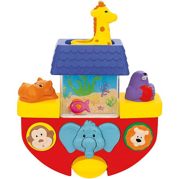 Игрушка для ванны Kiddieland КорабликИгрушки для ванной<br>Характеристики товара:<br><br>• возраст: от 1 года;<br>• материал: пластик;<br>• размер упаковки: 25х23х10 см;<br>• вес упаковки: 670 гр.;<br>• страна производитель: Китай.<br><br>Центр для ванной «Кораблик» Kiddieland разнообразит купание ребенка в ванной. При помощи присосок он крепится на вертикальную ровную поверхность. Сверху расположен резервуар для воды в виде жирафика. Если налить в него воды, то она начнет спускаться по слонику. Вода приведет в действие колесо, и оно начнет вращаться. Если нажать на тюленя, то он выпустить струйку воды. Игрушка выполнена из безопасного пластика.<br><br>Центр для ванной «Кораблик» Kiddieland можно приобрести в нашем интернет-магазине.<br><br>Ширина мм: 250<br>Глубина мм: 230<br>Высота мм: 100<br>Вес г: 670<br>Возраст от месяцев: 12<br>Возраст до месяцев: 36<br>Пол: Унисекс<br>Возраст: Детский<br>SKU: 7331984