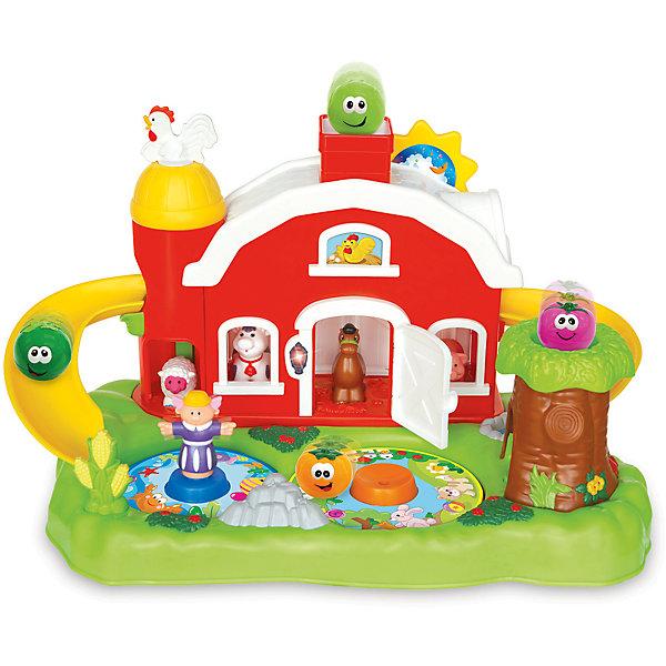 Интерактивная игрушка Kiddieland Фермерский дворикРазвивающие центры<br>Характеристики товара:<br><br>• возраст: от 1 года;<br>• материал: пластик;<br>• в комплекте: домик, 4 шарика, 4 фигурки животных;<br>• тип батареек: 3 батарейки АА;<br>• наличие батареек: в комплекте;<br>• размер упаковки: 52х33х33 см;<br>• вес упаковки: 3,3 кг;<br>• страна производитель: Китай.<br><br>Развивающая игрушка «Фермерский домик» Kiddieland представляет собой домик с лужайкой и прудом. В домике спрятались животные: овечка, лошадка, коровка, поросенок. По бокам домика расположены горки. Если запустить шарики в трубу, то они будут скатываться по горкам вниз. Нажав на петушка, ребенок услышит его приветствие. А если будет вращать солнышко, то послушает веселые звуки. Игрушка выполнена из безопасного пластика.<br><br>Развивающую игрушку «Фермерский домик» Kiddieland можно приобрести в нашем интернет-магазине.<br><br>Ширина мм: 520<br>Глубина мм: 330<br>Высота мм: 330<br>Вес г: 3300<br>Возраст от месяцев: 12<br>Возраст до месяцев: 36<br>Пол: Унисекс<br>Возраст: Детский<br>SKU: 7331986