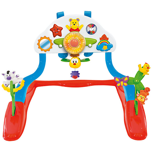 Развивающий гимнстический центр Kiddieland для малышаРазвивающие центры<br>Привлекает малышей яркими цветами, игровыми возможностями и успокаивающей музыкой.  Светящиеся пропеллеры вращаются, меняя яркие узоры.  Ребенок может нажимать на звездочку или тянуть пчелку, чтобы зазвучала приятная мелодия или замигали огоньки.  Съемные погремушки с фигурками для развития тактильного восприятия.<br><br>Ширина мм: 590<br>Глубина мм: 200<br>Высота мм: 330<br>Вес г: 2300<br>Возраст от месяцев: 12<br>Возраст до месяцев: 36<br>Пол: Унисекс<br>Возраст: Детский<br>SKU: 7331989
