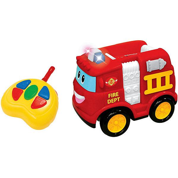 Радиоуправляемая машинка Kiddieland Пожарная машинаКаталки и качалки<br>Характеристики товара:<br><br>• возраст: от 1 года;<br>• материал: пластик;<br>• в комплекте: машина, пульт;<br>• тип батареек: 7 батареек АА;<br>• наличие батареек: в комплекте демонстрационные;<br>• размер игрушки: 17х16х11 см;<br>• размер упаковки: 29х15х16 см;<br>• вес упаковки: 1 кг;<br>• страна производитель: Китай.<br><br>Развивающая игрушка «Пожарная машина» на радиоуправлении Kiddieland — машинка, выполненная в виде пожарной машины в характерном красном цвете. Управляется игрушка пультом управления и может ездить в разных направлениях: вперед, сдавать назад, поворачивать. Во время движения слышны звуки работающего мотора, загораются сигналы торможения, звучит сирена. Выполнена игрушка из безопасных материалов.<br><br>Развивающую игрушку «Пожарная машина» на радиоуправлении Kiddieland можно приобрести в нашем интернет-магазине.<br>Ширина мм: 290; Глубина мм: 150; Высота мм: 160; Вес г: 1000; Возраст от месяцев: 12; Возраст до месяцев: 36; Пол: Унисекс; Возраст: Детский; SKU: 7331990;