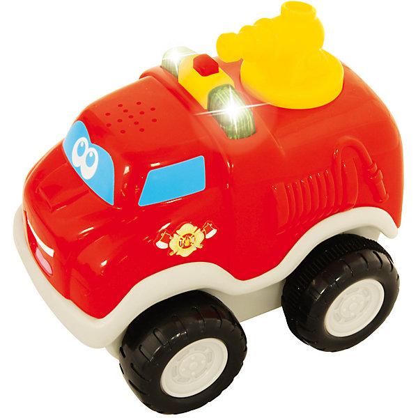 Развивающая машинка Kiddieland Пожарный автомобильМашинки<br>Характеристики товара:<br><br>• возраст: от 1 года;<br>• материал: пластик;<br>• тип батареек: 3 батарейки LR44;<br>• наличие батареек: в комплекте;<br>• размер игрушки: 12х10х9 см;<br>• размер упаковки: 16х15х11 см;<br>• вес упаковки: 400 гр.;<br>• страна производитель: Китай.<br><br>Развивающая игрушка «Пожарный автомобиль» Kiddieland — увлекательная игрушка-машинка, оснащенная инерционным механизмом. Стоит только откатить ее немного назад и отпустить, как она помчится вперед. Во время движения будет играть музыка, слышны звуки мотора, сигналы. Игрушка выполнена из качественных безопасных материалов.<br><br>Развивающую игрушку «Пожарный автомобиль» Kiddieland можно приобрести в нашем интернет-магазине.<br><br>Ширина мм: 150<br>Глубина мм: 110<br>Высота мм: 160<br>Вес г: 400<br>Возраст от месяцев: 12<br>Возраст до месяцев: 36<br>Пол: Унисекс<br>Возраст: Детский<br>SKU: 7331995