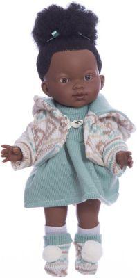 Классическая кукла Llorens Валерия мулатка в бирюзовом платье, 28 см