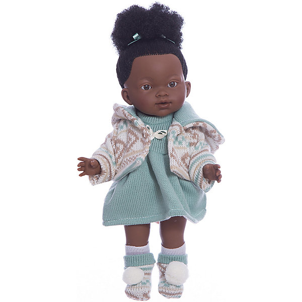 Классическая кукла Llorens Валерия мулатка в бирюзовом платье, 28 смБренды кукол<br>Характеристики товара:<br><br>• возраст: от 3 лет;<br>• материал: ПВХ, текстиль;<br>• высота куклы: 28 см;<br>• размер упаковки: 36х20х11 см;<br>• вес упаковки: 660 гр.;<br>• страна производитель: Испания.<br><br>Кукла «Валерия мулатка в бирюзовом платье» Llorens — очаровательная девочка с темными волосами, одетая в вязаные платье, кофточку и носочки. У куклы твердое тело, выполненное из ПВХ. Игра с куклой прививает малышке чувство заботы, ответственности. <br><br>Куклу «Валерия мулатка в бирюзовом платье» Llorens можно приобрести в нашем интернет-магазине.<br><br>Ширина мм: 200<br>Глубина мм: 110<br>Высота мм: 360<br>Вес г: 660<br>Возраст от месяцев: 36<br>Возраст до месяцев: 84<br>Пол: Женский<br>Возраст: Детский<br>SKU: 7332000