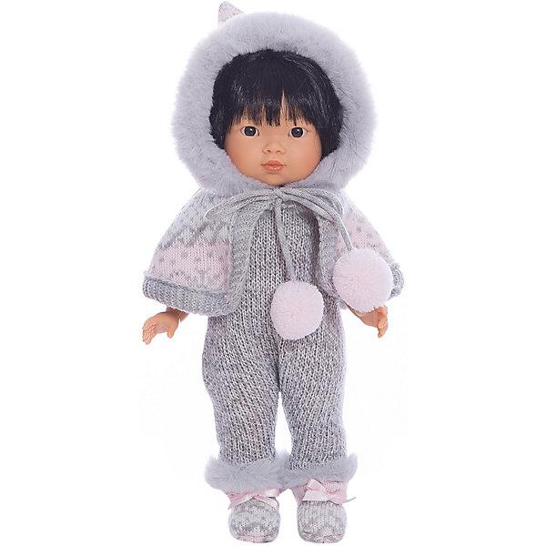 Купить Классическая кукла Llorens Валерия азиатка в сером комбинезоне 28 см, Испания, Женский