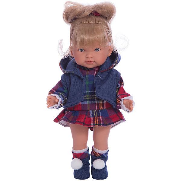 Классическая кукла Llorens Валерия в красном платье, 28 смКуклы<br>Кукла с твердым туловищем изготовлена из ПВХ. Одета в красное платье, серую кофточку, носочки. Глазки у куклы не закрываются. Светлые волосы прошиты по всей голове. Упакована в подарочную упаковку.<br><br>Ширина мм: 200<br>Глубина мм: 110<br>Высота мм: 360<br>Вес г: 660<br>Возраст от месяцев: 36<br>Возраст до месяцев: 84<br>Пол: Женский<br>Возраст: Детский<br>SKU: 7332002