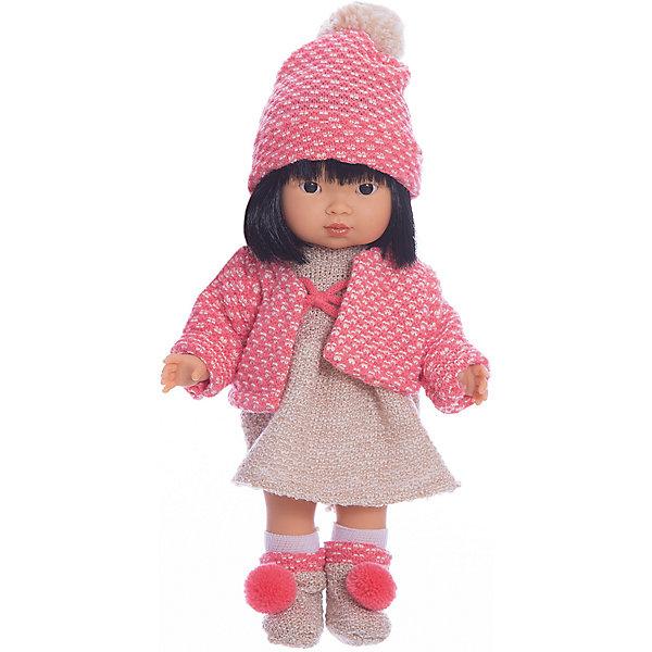Купить Классическая кукла Llorens Валерия азиатка в красном платье, 28 см, Испания, Женский