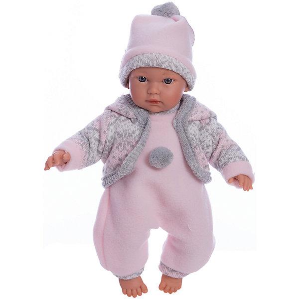 Купить Кукла-пупс Llorens Кука в розовом комбинезоне, 30 см, Испания, Женский