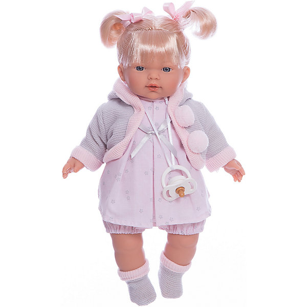 Кукла-пупс Llorens Роберта в розовом платье, 33 смКуклы<br>Характеристики товара:<br><br>• возраст: от 3 лет;<br>• материал: ПВХ, текстиль;<br>• высота куклы: 33 см;<br>• размер упаковки: 36х20х11 см;<br>• вес упаковки: 660 гр.;<br>• страна производитель: Испания.<br><br>Кукла «Роберта в розовом платье» Llorens — очаровательная девочка со светлыми волосами, одетая в платье и теплую вязаную кофточку. У куклы мягконабивное тело, выполненное из ПВХ с наполнителем из синтетического волокна. Игра с куклой прививает малышке чувство заботы, ответственности. <br><br>Куклу «Роберта в розовом платье» Llorens можно приобрести в нашем интернет-магазине.<br>Ширина мм: 200; Глубина мм: 110; Высота мм: 360; Вес г: 660; Возраст от месяцев: 36; Возраст до месяцев: 84; Пол: Женский; Возраст: Детский; SKU: 7332008;