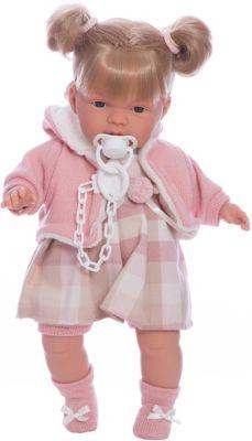 Кукла-пупс Llorens Люсия в клетчатом платье, 38 см фото-1