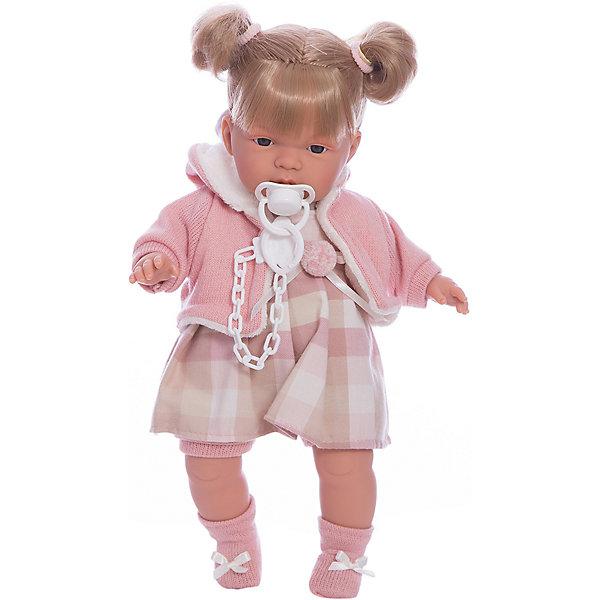 Кукла-пупс Llorens Люсия в клетчатом платье, 38 смКуклы<br>Характеристики товара:<br><br>• возраст: от 3 лет;<br>• материал: ПВХ, текстиль;<br>• высота куклы: 38 см;<br>• размер упаковки: 47х23х12 см;<br>• вес упаковки: 960 гр.;<br>• страна производитель: Испания.<br><br>Кукла «Люсия в клетчатом платье» Llorens — очаровательная девочка со светлыми волосами, одетая в платье и теплую вязаную кофточку. У куклы мягконабивное тело, выполненное из ПВХ с наполнителем из синтетического волокна. Игра с куклой прививает малышке чувство заботы, ответственности. <br><br>Куклу «Люсия в клетчатом платье» Llorens можно приобрести в нашем интернет-магазине.<br>Ширина мм: 230; Глубина мм: 120; Высота мм: 470; Вес г: 960; Возраст от месяцев: 36; Возраст до месяцев: 84; Пол: Женский; Возраст: Детский; SKU: 7332011;