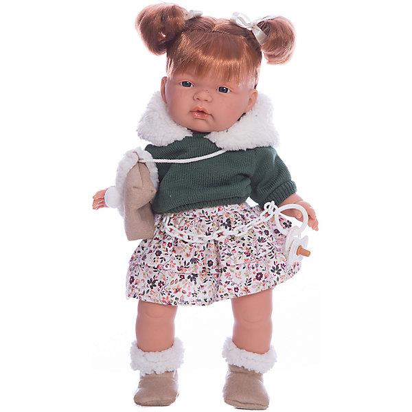 Кукла-пупс Llorens Кейт в светлой юбке, 38 смКуклы<br>Кукла изготовлена из ПВХ с мягконабивным туловищем с наполнителем из синтетического волокна. На кукле надета светлая юбка, зеленую кофта с меховым воротником, носочки. Глазки у куклы не закрываются. Волосы прошиты по всей голове. Упакована в подарочную упаковку.<br><br>Ширина мм: 230<br>Глубина мм: 120<br>Высота мм: 470<br>Вес г: 960<br>Возраст от месяцев: 36<br>Возраст до месяцев: 84<br>Пол: Женский<br>Возраст: Детский<br>SKU: 7332012
