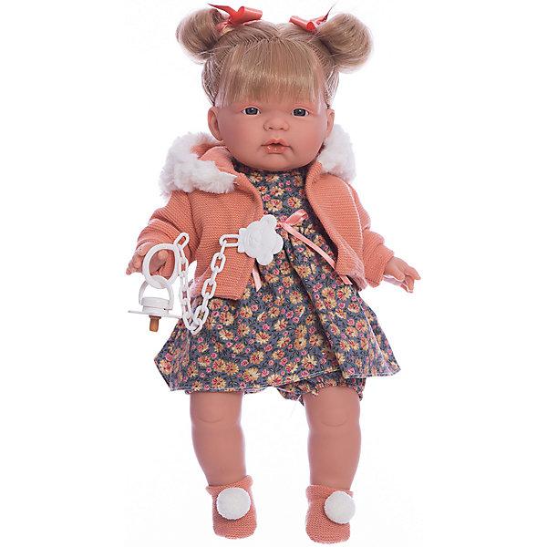 Кукла-пупс Llorens Жоэль в коричневом платье, 38 смКуклы<br>Характеристики товара:<br><br>• возраст: от 3 лет;<br>• материал: ПВХ, текстиль;<br>• высота куклы: 38 см;<br>• размер упаковки: 47х23х12 см;<br>• вес упаковки: 960 гр.;<br>• страна производитель: Испания.<br><br>Кукла «Жоэль в коричневом платье» Llorens — очаровательная девочка со светлыми волосами, одетая в платье и теплую кофточку. У куклы мягконабивное тело, выполненное из ПВХ с наполнителем из синтетического волокна. Игра с куклой прививает малышке чувство заботы, ответственности. <br><br>Куклу «Жоэль в коричневом платье» Llorens можно приобрести в нашем интернет-магазине.<br>Ширина мм: 230; Глубина мм: 120; Высота мм: 470; Вес г: 960; Возраст от месяцев: 36; Возраст до месяцев: 84; Пол: Женский; Возраст: Детский; SKU: 7332013;
