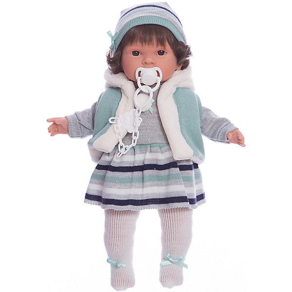 Кукла-пупс Llorens Карла в сером платье, 42 смБренды кукол<br>Характеристики товара:<br><br>• возраст: от 3 лет;<br>• материал: ПВХ, текстиль;<br>• высота куклы: 42 см;<br>• размер упаковки: 47х23х12 см;<br>• вес упаковки: 1,17 кг;<br>• страна производитель: Испания.<br><br>Кукла «Карла в сером платье» Llorens — очаровательная девочка с темными волосами, одетая в платье, теплую кофту и шапочку. У куклы мягконабивное тело, выполненное из ПВХ с наполнителем из синтетического волокна. Игра с куклой прививает малышке чувство заботы, ответственности. <br><br>Куклу «Карла в сером платье» Llorens можно приобрести в нашем интернет-магазине.<br>Ширина мм: 230; Глубина мм: 120; Высота мм: 470; Вес г: 1170; Возраст от месяцев: 36; Возраст до месяцев: 84; Пол: Женский; Возраст: Детский; SKU: 7332018;