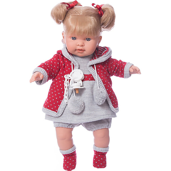 Купить Кукла-пупс Llorens Пиппа в сером платье, 42 см, Испания, Женский