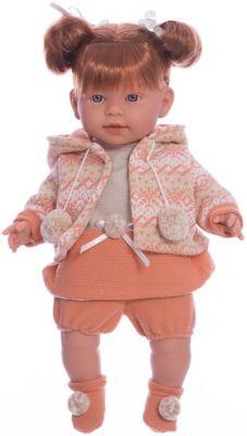 Кукла-пупс Llorens Амелия в оранежвом платье, 42 см