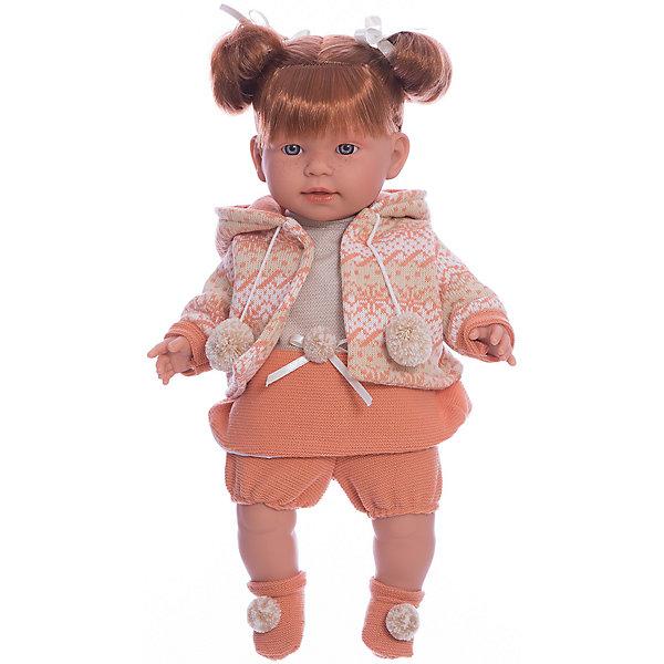 Кукла-пупс Llorens Амелия в оранежвом платье, 42 смБренды кукол<br>Характеристики товара:<br><br>• возраст: от 3 лет;<br>• материал: ПВХ, текстиль;<br>• высота куклы: 42 см;<br>• размер упаковки: 47х23х12 см;<br>• вес упаковки: 1,17 кг;<br>• страна производитель: Испания.<br><br>Кукла «Амелия в оранжевом платье» Llorens — очаровательная девочка с рыжими волосами, одетая в платье и теплую кофту. У куклы мягконабивное тело, выполненное из ПВХ с наполнителем из синтетического волокна. Игра с куклой прививает малышке чувство заботы, ответственности. <br><br>Куклу «Амелия в оранжевом платье» Llorens можно приобрести в нашем интернет-магазине.<br>Ширина мм: 230; Глубина мм: 120; Высота мм: 470; Вес г: 1170; Возраст от месяцев: 36; Возраст до месяцев: 84; Пол: Женский; Возраст: Детский; SKU: 7332020;