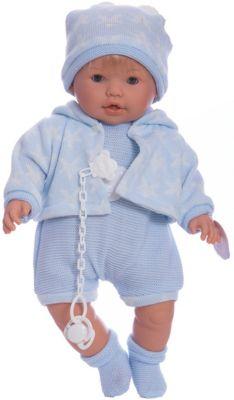 Кукла-пупс Llorens Нико в голубом боди, 48 см