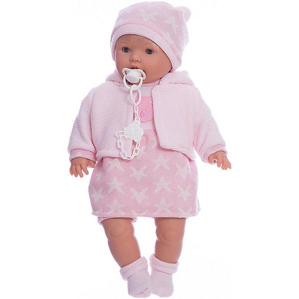 Кукла-пупс Llorens Ника в розовом платье, 48 смКуклы<br>Характеристики товара:<br><br>• возраст: от 3 лет;<br>• материал: ПВХ, текстиль;<br>• высота куклы: 48 см;<br>• размер упаковки: 47х23х12 см;<br>• вес упаковки: 1,27 кг;<br>• страна производитель: Испания.<br><br>Кукла «Ника в розовом платье» Llorens — очаровательный малыш, одетый в розовое платье, теплую кофточку, шапочку и носочки. У куклы мягконабивное тело, выполненное из ПВХ с наполнителем из синтетического волокна. Игра с куклой прививает малышке чувство заботы, ответственности. <br><br>Куклу «Ника в розовом платье» Llorens можно приобрести в нашем интернет-магазине.<br>Ширина мм: 230; Глубина мм: 120; Высота мм: 470; Вес г: 1270; Возраст от месяцев: 36; Возраст до месяцев: 84; Пол: Женский; Возраст: Детский; SKU: 7332022;