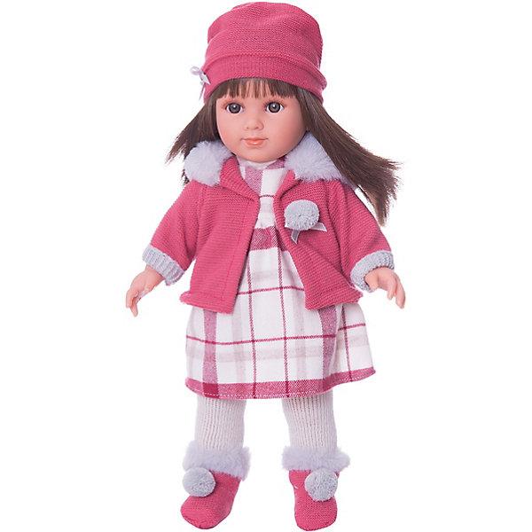 Классическая кукла Llorens Елена в клетчатом платье, 35 смКуклы<br>Кукла изготовлена из ПВХ с твердыи туловищем. Ноги, руки  и голова могут крутиться, благодаря шарнирной системе. Кукла одета светлое клечатое платье, красное пальто с копюшоном, шапочку, калготки, носочки. Глазки у куклы не закрываются. Темные длинные волосы прошиты по всей голове. Упакована в подарочную упаковку.<br><br>Ширина мм: 230<br>Глубина мм: 120<br>Высота мм: 470<br>Вес г: 960<br>Возраст от месяцев: 36<br>Возраст до месяцев: 84<br>Пол: Женский<br>Возраст: Детский<br>SKU: 7332024