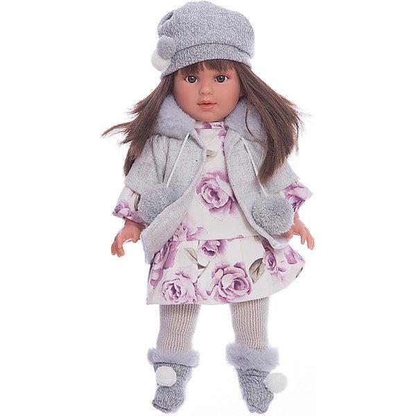 Классическая кукла Llorens Мартина в кофте с капюшоном, 40 смКуклы<br>Характеристики товара:<br><br>• возраст: от 3 лет;<br>• материал: ПВХ, текстиль;<br>• высота куклы: 40 см;<br>• размер упаковки: 46х24х14 см;<br>• вес упаковки: 1,17 кг;<br>• страна производитель: Испания.<br><br>Кукла «Мартина в кофте с капюшоном» Llorens — очаровательная девочка с темными волосами, одетая в платье, теплую кофточку с капюшоном, шапочку и носочки. У куклы мягконабивное тело; руки, ноги и голова из ПВХ, без звука. Глаза с ресницами не закрываются. <br><br>Игра с куклой прививает малышке чувство заботы, ответственности. <br><br><br>Куклу «Мартина в кофте с капюшоном» Llorens можно приобрести в нашем интернет-магазине.<br>Ширина мм: 230; Глубина мм: 120; Высота мм: 470; Вес г: 1170; Возраст от месяцев: 36; Возраст до месяцев: 84; Пол: Женский; Возраст: Детский; SKU: 7332026;