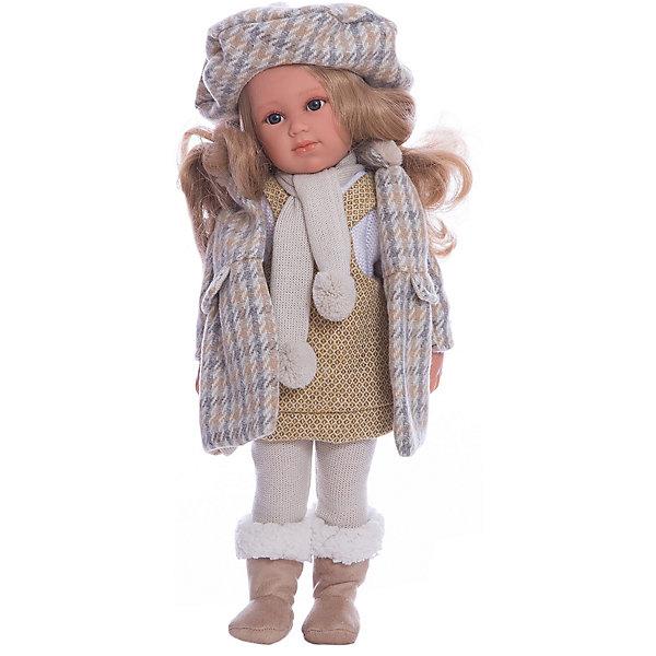 Классическая кукла Llorens Хелена в сером пальто, 42 смКуклы<br>Характеристики товара:<br><br>• возраст: от 3 лет;<br>• материал: ПВХ, текстиль;<br>• высота куклы: 42 см;<br>• размер упаковки: 47х23х12 см;<br>• вес упаковки: 1,6 кг;<br>• страна производитель: Испания.<br><br>Кукла «Хелена в сером пальто» Llorens — очаровательная девочка со светлыми волосами, одетая в пальтишко, теплые носочки, а на голове у нее берет. <br><br>Кукла изготовлена из ПВХ с твердым туловищем. Ноги, руки  и голова могут крутиться, благодаря шарнирной системе. Глазки у куклы не закрываются.Упакована в подарочную упаковку.<br><br>Куклу «Хелена в сером пальто» Llorens можно приобрести в нашем интернет-магазине.<br>Ширина мм: 230; Глубина мм: 120; Высота мм: 470; Вес г: 1600; Возраст от месяцев: 36; Возраст до месяцев: 84; Пол: Женский; Возраст: Детский; SKU: 7332029;