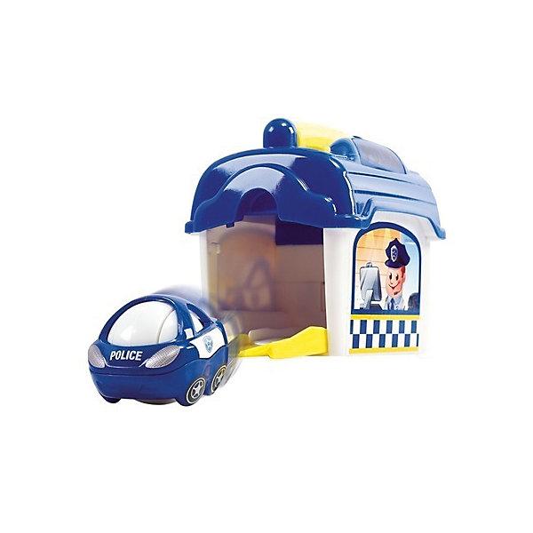 Игровой набор с машинкой Playgo Полицейский участокМашинки<br>Открой ворота и поставь на стоянку полицейский автомобиль. При нажатии кнопки на крыше участка зазвучит полицейская сирена и замигает проблесковый маячок. Нажми на боковой рычаг и полицейский автомобиль выскочит из ворот и помчится на экстренный вызов.<br><br>Ширина мм: 200<br>Глубина мм: 180<br>Высота мм: 110<br>Вес г: 475<br>Возраст от месяцев: 12<br>Возраст до месяцев: 36<br>Пол: Унисекс<br>Возраст: Детский<br>SKU: 7332030